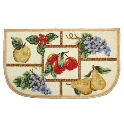 Fruit Multi-Color 18 in. x 30 in. Indoor Mat