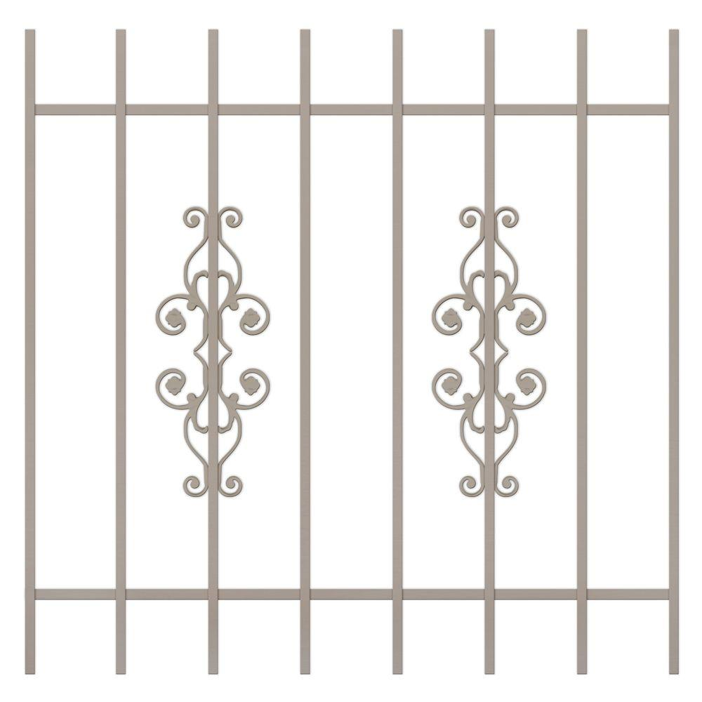Unique Home Designs La Entrada 42 in. x 42 in. Tan 8-Bar Window Guard-DISCONTINUED