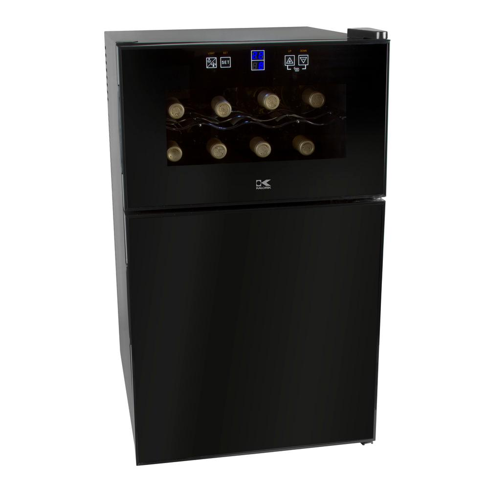 8-Bottle 2-in-1 Mini Fridge and Wine Cooler