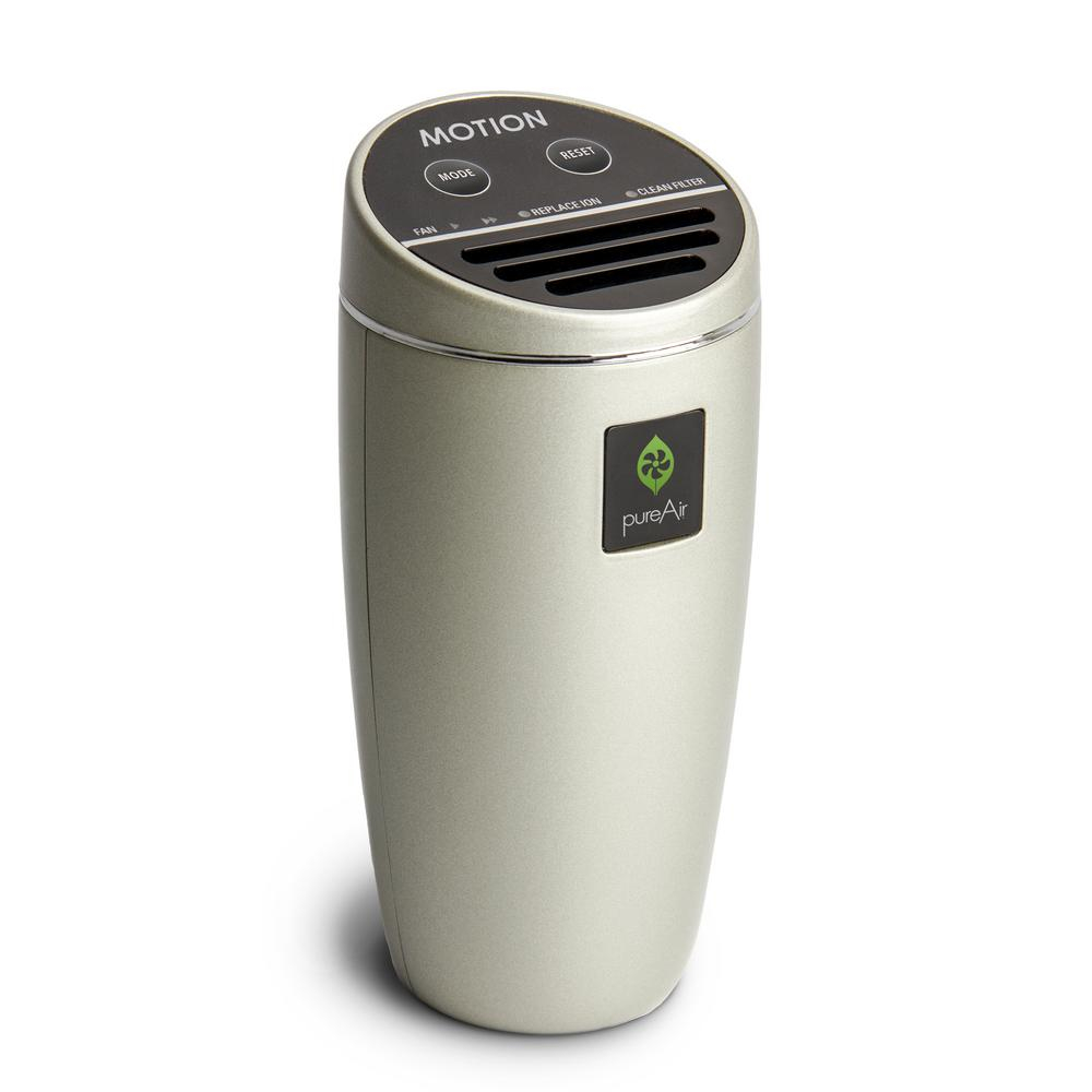 GreenTech Environmental Filterless Air Purifier Compact for Vehicle, Cluster Ion Technology, Champagne