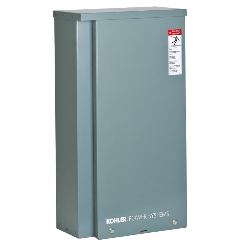 KOHLER 200 Amp Whole House Indoor/Outdoor Rated Automatic Transfer Switch The transfer switch is the brain of your KOHLER home backup power system. It continuously monitors the utility power for an interruption. If utility power fails, the transfer switch automatically starts the power system, transfers the electrical loads and restores power to your home. When utility power resumes, the transfer switch reverses the process again, automatically.