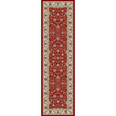 Vaughan Red/Ivory 2 ft. x 11 ft. Indoor Runner Rug