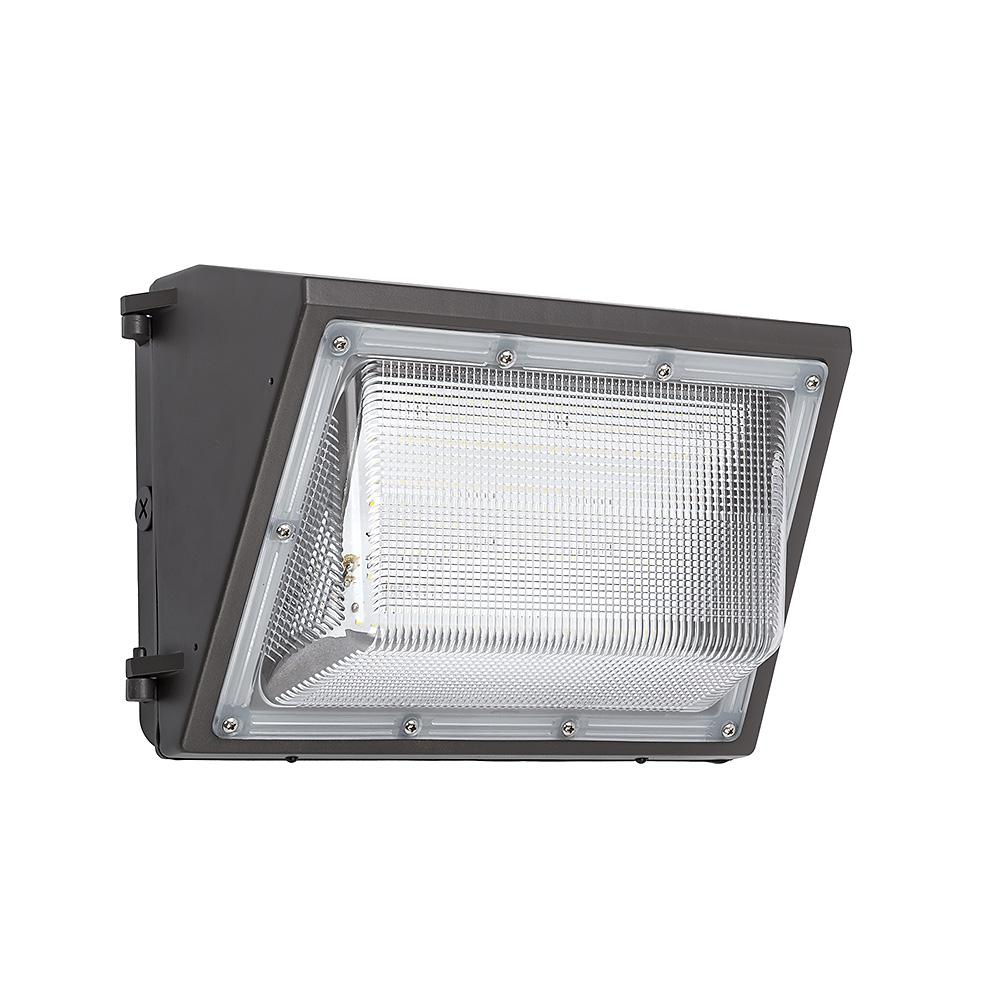 400 Watt Led Wall Pack Lights: ETi 14 In. Bronze Outdoor Integrated LED Wall Pack Light
