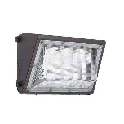 14 in. Bronze Outdoor Integrated LED Wall Pack Light 400 Watt Metal Halide Equivalent Photocell Compatible 8000 Lumens