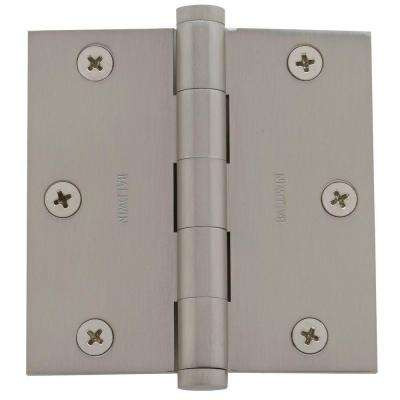3.5 in. x 3.5 in. Satin Nickel Square Hinge