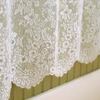Heritage Lace Floret 72 in. W x 72 in. L White Lace Shower Curtain