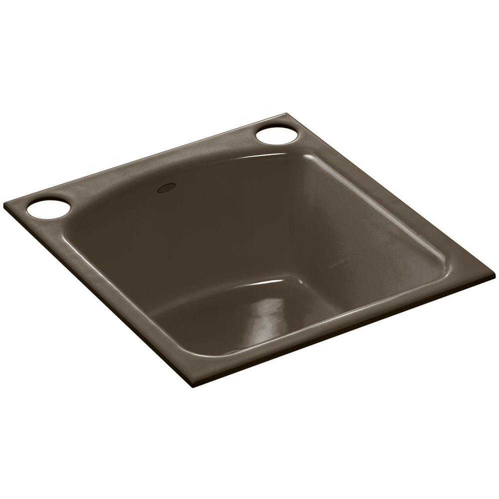KOHLER Napa Undermount Cast-Iron 19 in. 2-Hole Single Bowl Kitchen ...