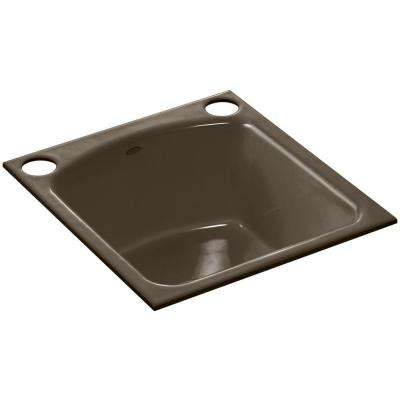Napa Undermount Cast-Iron 19 in. 2-Hole Single Bowl Kitchen Sink in Suede