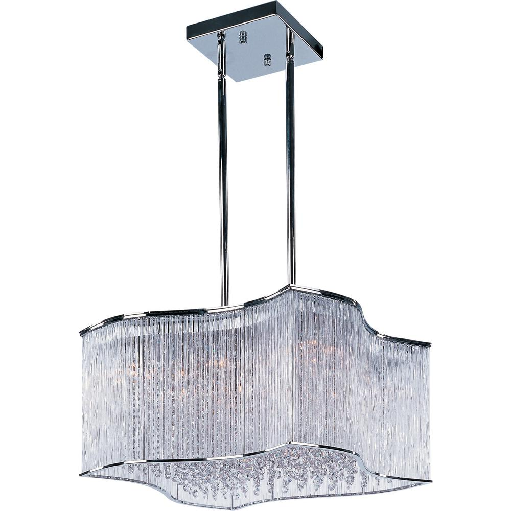 Maxim Lighting Swizzle 20-Light Polished Chrome Pendant Maxim Lighting's commitment to both the residential lighting and the home building industries will assure you a product line focused on your lighting needs. With Maxim Lighting accessories you will find quality product that is well designed, well priced and readily available. Maxim has fixtures in a variety of styles, and a strong presence in the energy-efficient lighting industry, Maxim Lighting is the clear choice for quality lighting.