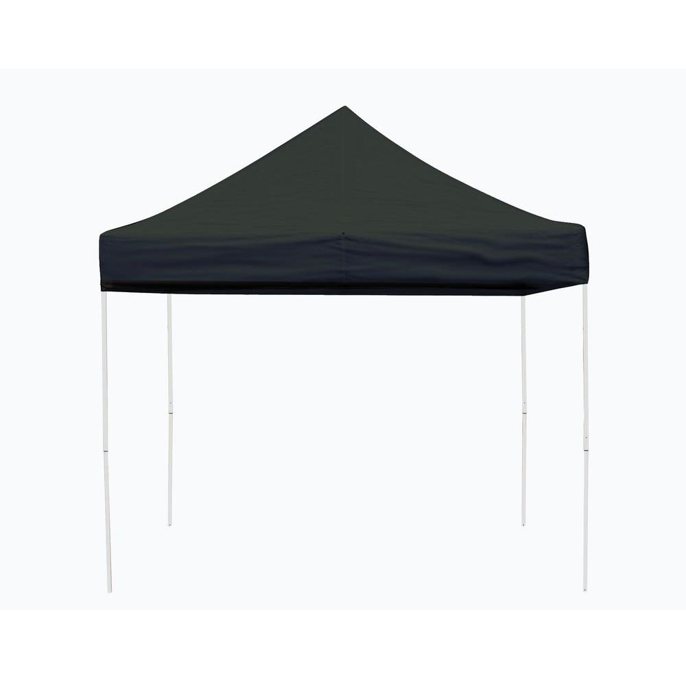 Pro Series 10 ft. x 10 ft. Black Straight Leg Pop-Up