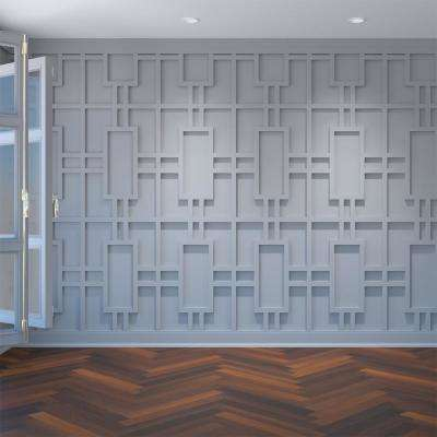 3/8 in. x 15-3/4 in. x 23-3/4 in. Large Hastings White Architectural Grade PVC Decorative Wall Panels