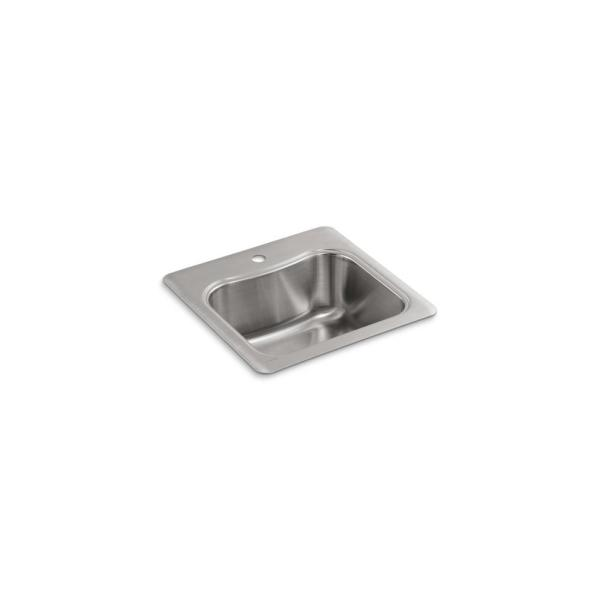 Staccato 18 Gauge Stainless Steel 20 in. 1-Hole Drop-in Bar Sink