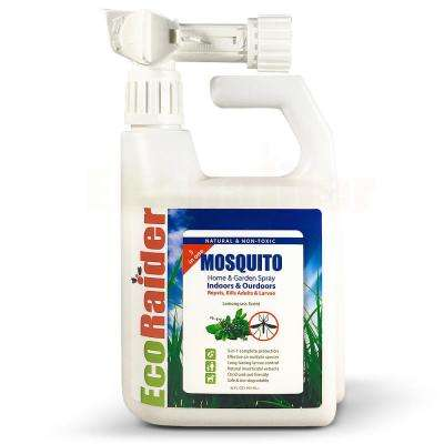 32 oz. Mosquito Home and Garden Hose Sprayer 3-in-1 Kills Adults and Larvae plus Repels Natural and Non-Toxic