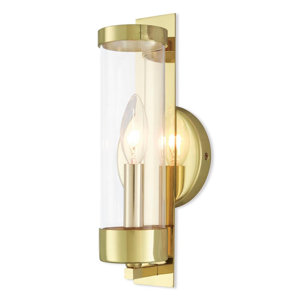 Castleton 1-Light Polished Brass Sconce