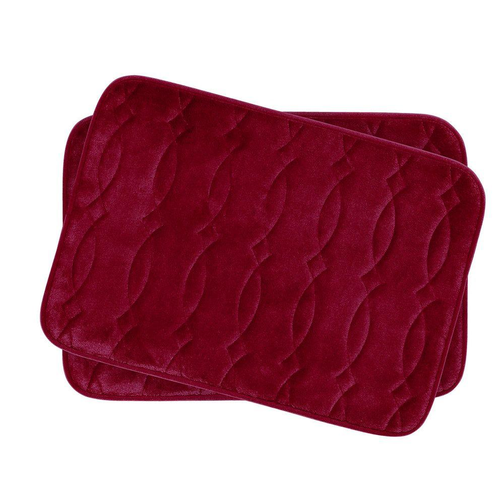 Bouncecomfort Grecian Red 17 In X 24 In Memory Foam 2