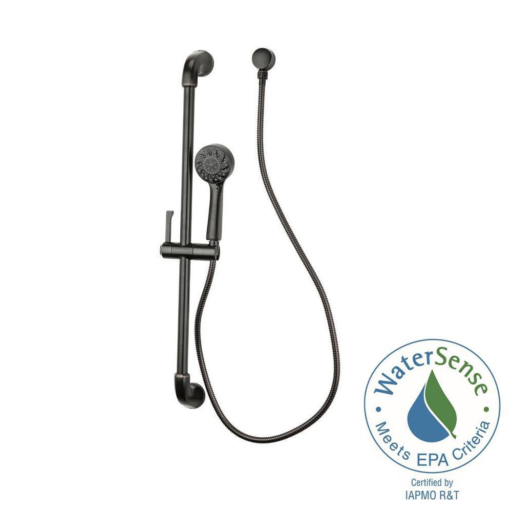 Arterra Single-Spray Wall Bar Shower Kit in Tuscan Bronze