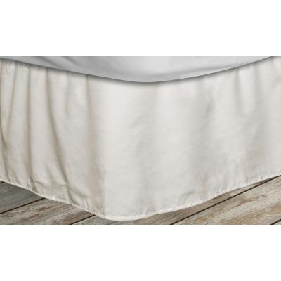 Frita 15 in. Beige Striped Twin Bed Skirt