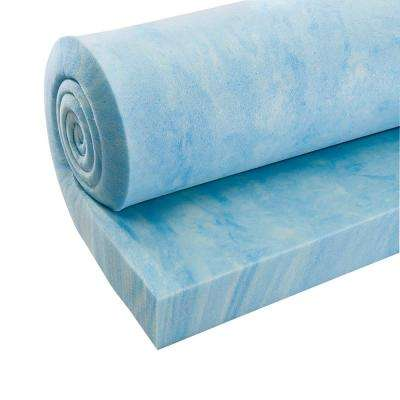 3 in. Thick Multi-Purpose High Density Memory Foam, Blue Swirl