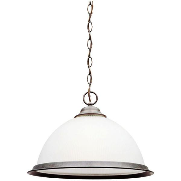 1-Light Sienna Interior Pendant with Frosted Ribbed Glass