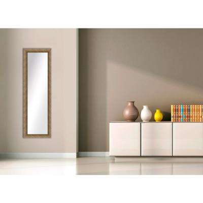 51.5 in. x 15.5 in. Dark Champagne Framed Mirror