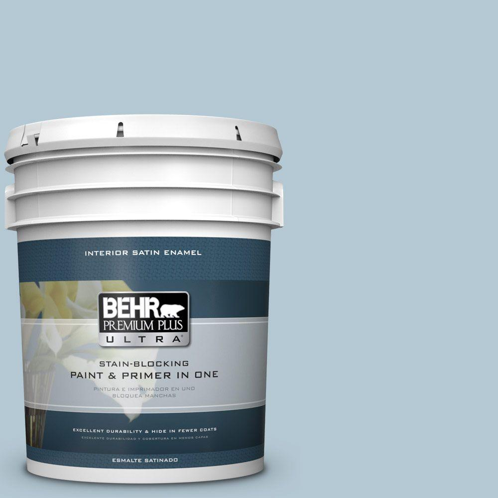 5 gal. #HDC-CT-16A English Hollyhock Satin Enamel Interior Paint