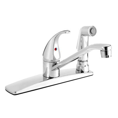 Belanger Single-Handle Standard Kitchen Faucet with Side Spray in Polished Chrome