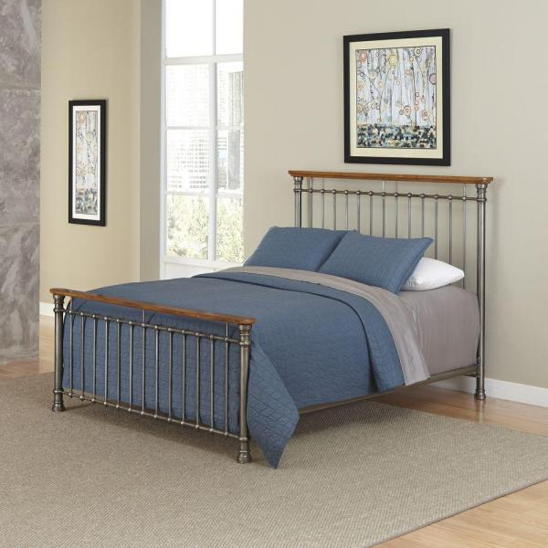Home Styles Orleans Caramel King Bed Frame