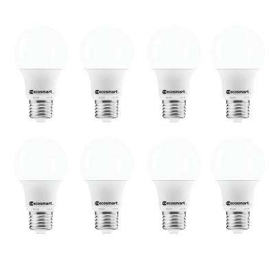 40-Watt Equivalent A19 Non-Dimmable LED Light Bulb Daylight (8-Pack)