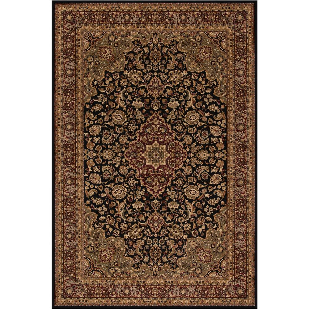 Concord Global Trading Persian Classics Medallion Kashan Black 6 ft. 7 in. x 9 ft. 6 in. Area Rug
