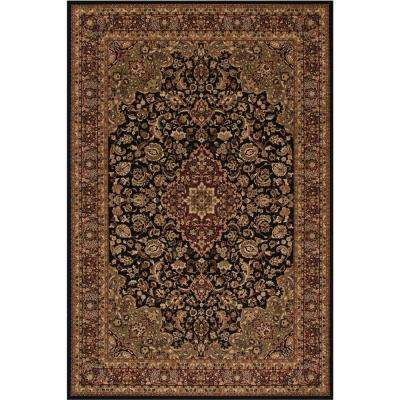 Persian Clics Medallion Kashan Black 8 Ft X 11 Area Rug