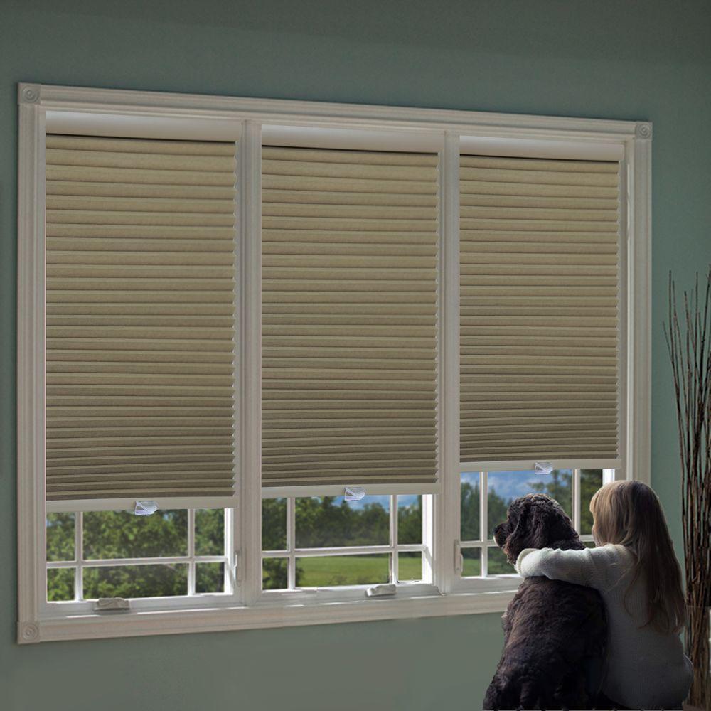 Perfect lift window treatment white cordless blackout for White shades for windows
