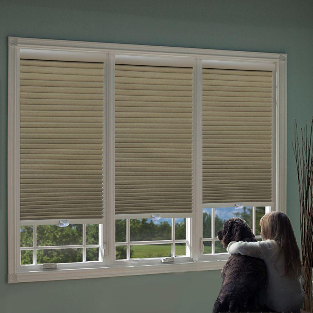 perfect lift window treatment white cordless blackout cellular shade 64 in w x 64 - Blackout Cellular Shades
