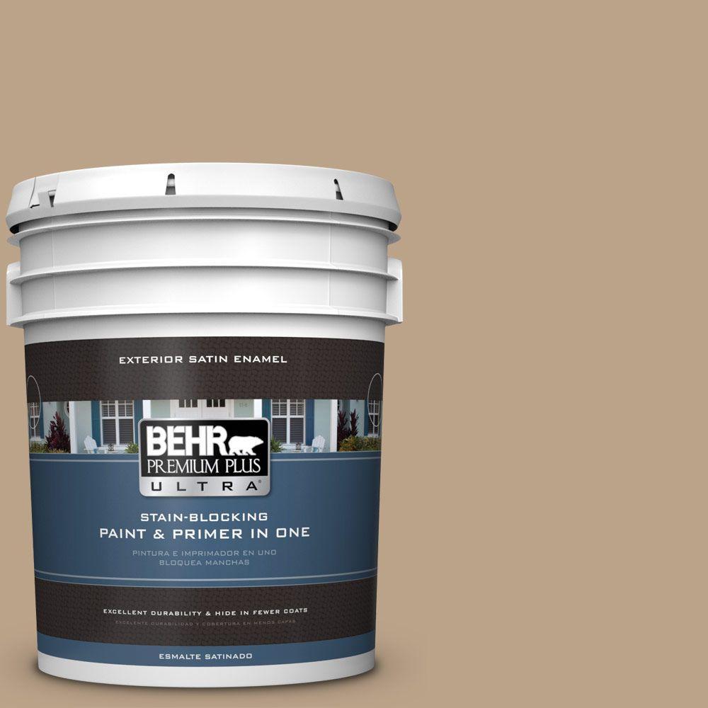BEHR Premium Plus Ultra 5-gal. #710D-4 Harvest Brown Satin Enamel Exterior Paint