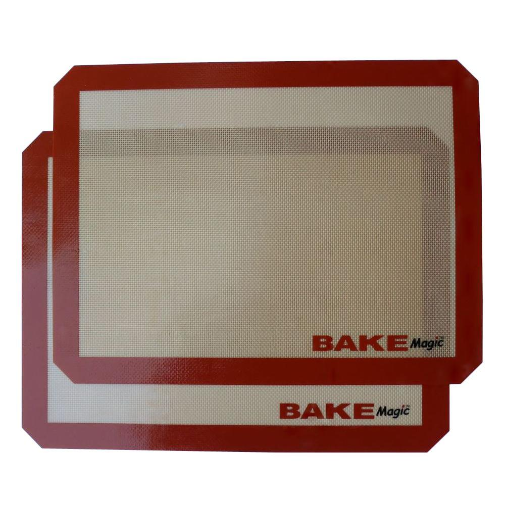 null Reusable 15.75 in. x 11.75 in. Non-Stick Baking Silicone Mat (Set of 2)