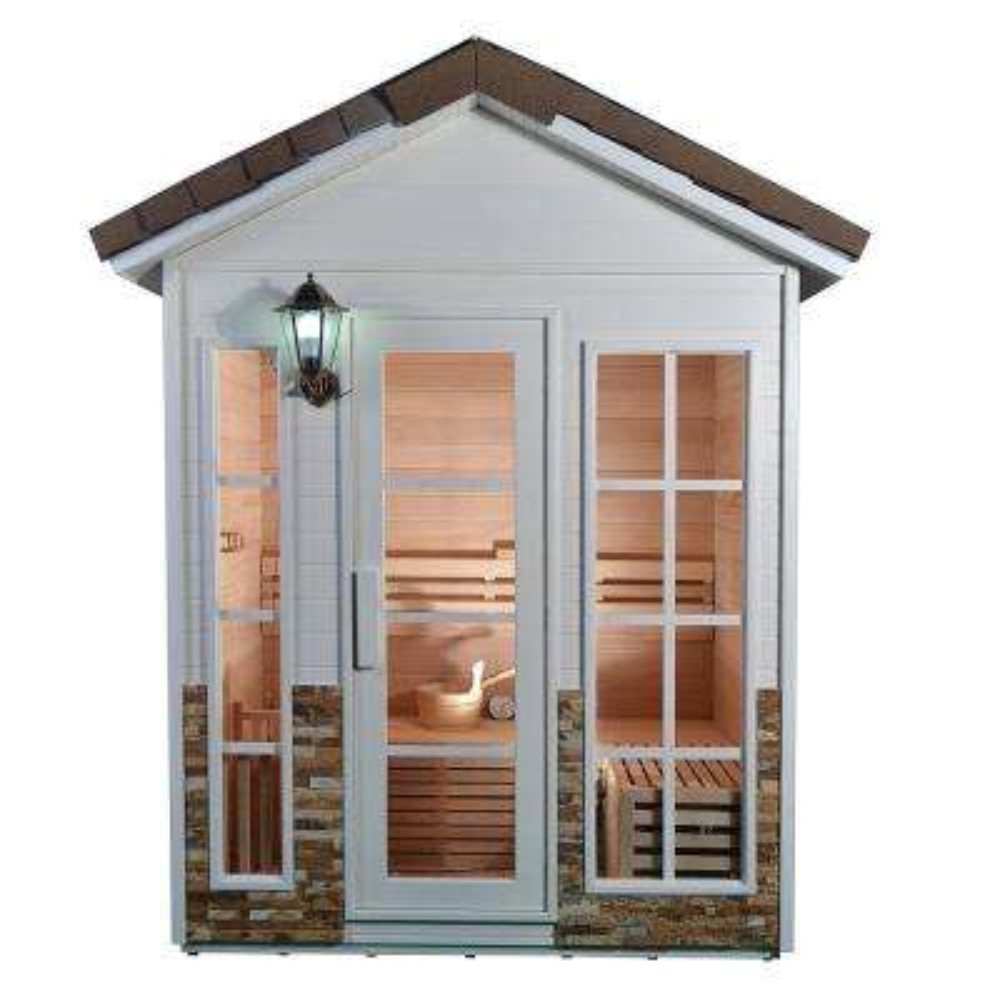 4-Person Canadian Hemlock Electric Heater Sauna