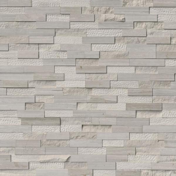 White Oak Multi 6 in. x 6 in. x 6 in. Honed Marble Stone Look Wall Tile (2.5 sq. ft. / Case)