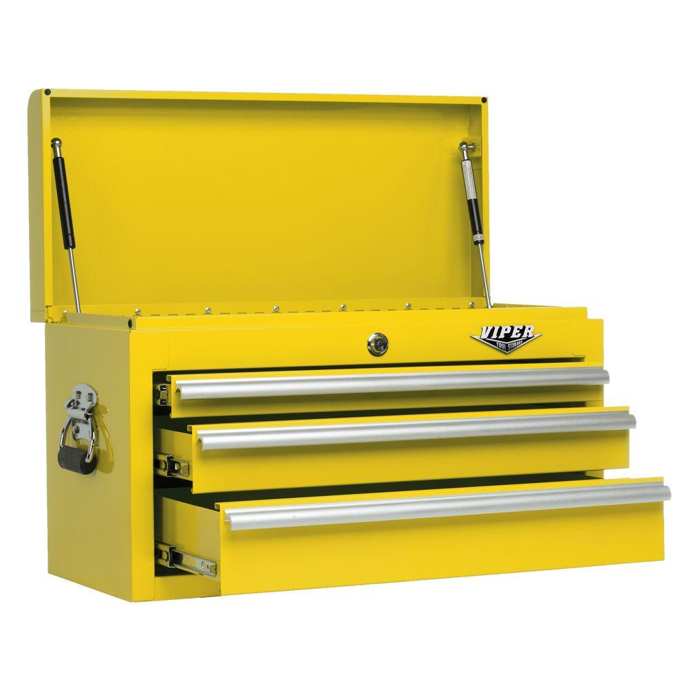 Viper Tool Storage 26 in. 3-Drawer Chest in Yellow