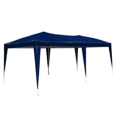 19.7 ft. x 9.8 ft. Home Use Outdoor Camping Waterproof Folding Tent with Carry Plastic Bag Blue Shed