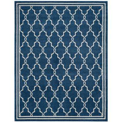 Amherst Navy/Beige 8 ft. x 10 ft. Indoor/Outdoor Area Rug