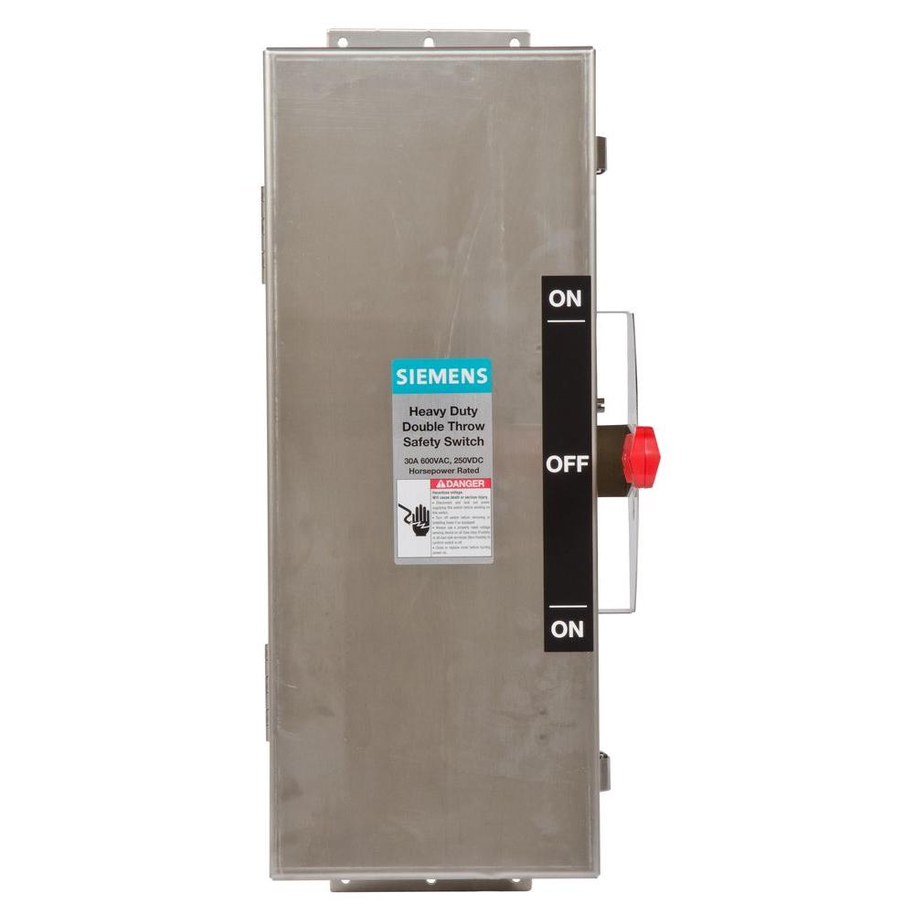 Siemens Double Throw 30 Amp 600