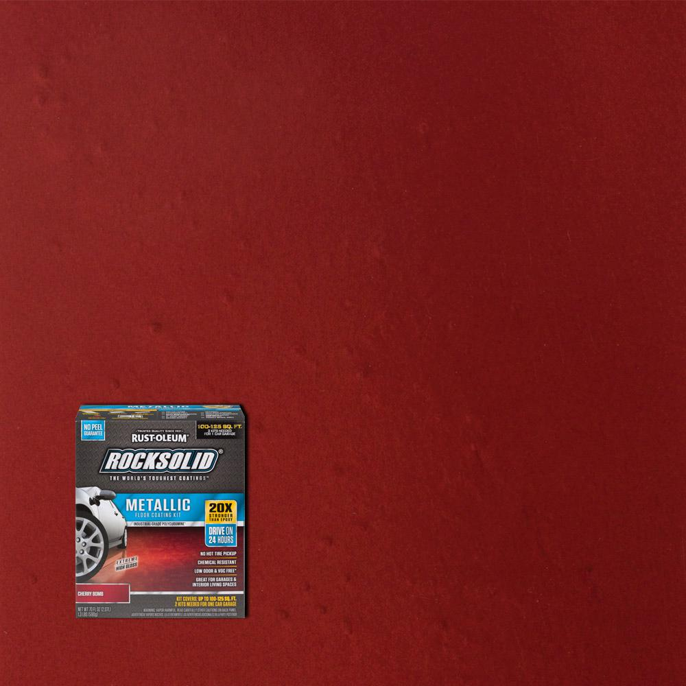 Rust Oleum Rocksolid 70 Oz Metallic Cherry Garage Floor Kit 2