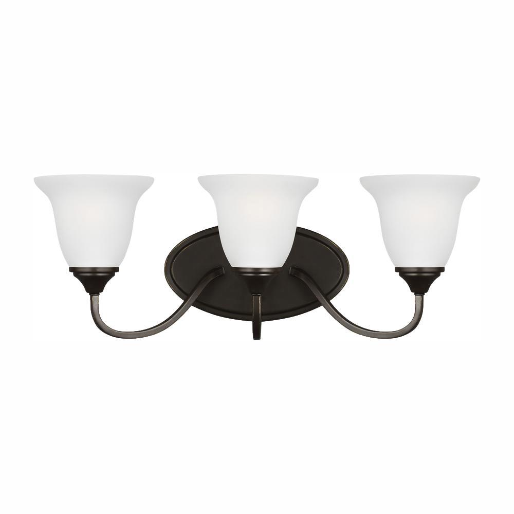 Clement 3-Light Heirloom Bronze Bath Light with LED Bulbs