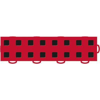 TechFloor 3 in. x 12 in. Red/Black Vinyl Tiles (Right Loop) (Quantity of 10)