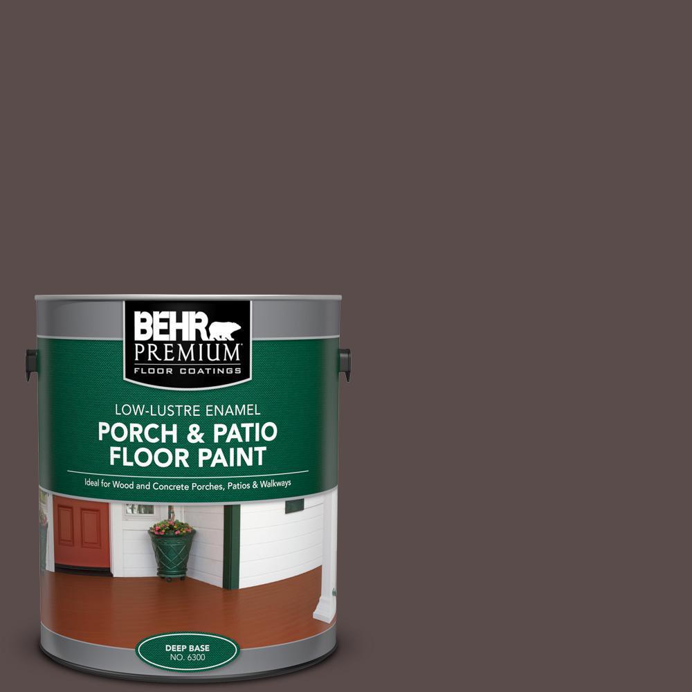 Behr Premium 1 Gal Home Decorators Collection Hdc Ac 07 Oak Creek Low Lustre Enamel Interior Exterior Porch And Patio Floor Paint 630001 The Home Depot