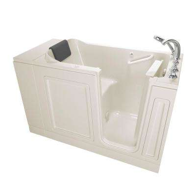 Acrylic Luxury 48 in. Right Hand Walk-In Air Bathtub in Linen
