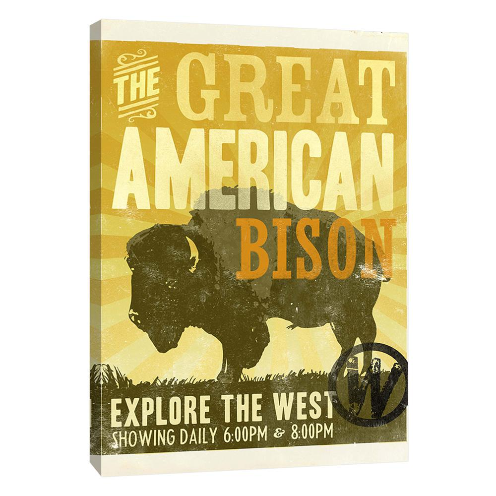 PTM Images 12.in x 10.in \'\'Bison\'\' Printed Canvas Wall Art-9-107117 ...