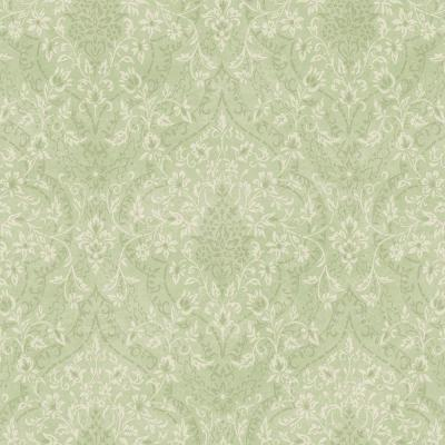 Essex Green Lacey Damask Wallpaper