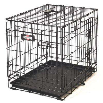 24 in. D x 20 in. H x 17 in. W Small Wire Dog Crate