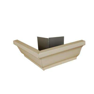 6 in. Almond Aluminum Outside Gutter Mitre Box