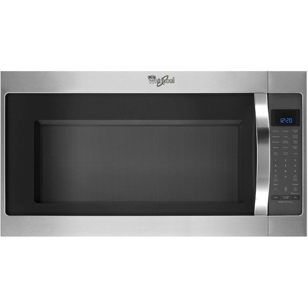 whirlpool 2 0 cu ft over the range microwave in stainless steel with sensor cooking wmh53520cs. Black Bedroom Furniture Sets. Home Design Ideas